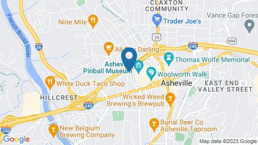 Hotel Indigo Asheville Downtown Map