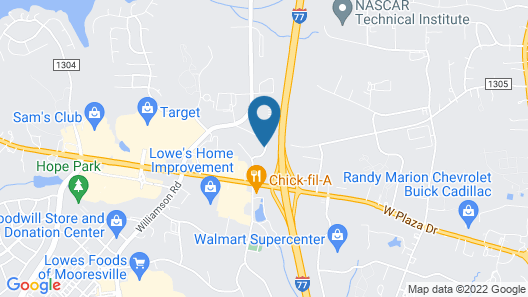 Hampton Inn & Suites Mooresville/Lake Norman, NC Map