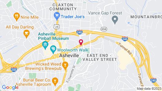 Hilton Garden Inn Asheville Downtown Map