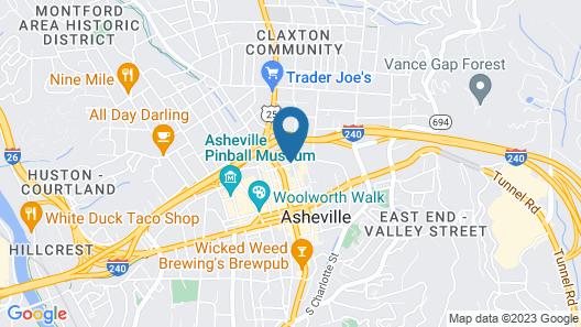 Four Points by Sheraton Asheville Downtown Map