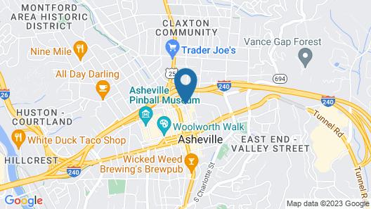 Renaissance Asheville Hotel Map