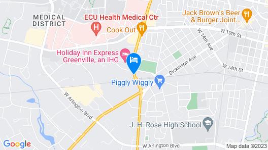 Super 8 by Wyndham Greenville Map