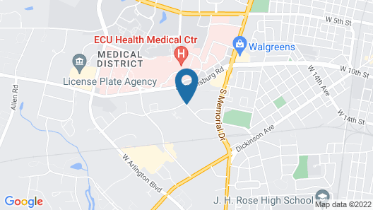 Microtel Inn & Suites by Wyndham Greenville/University Medic Map