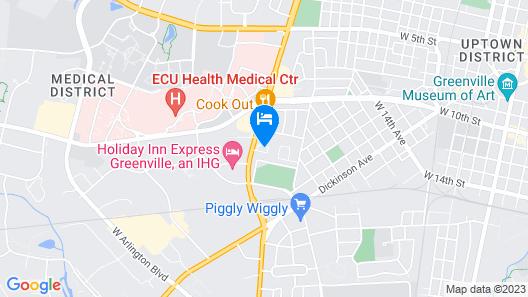 Quality Inn Greenville near University Map