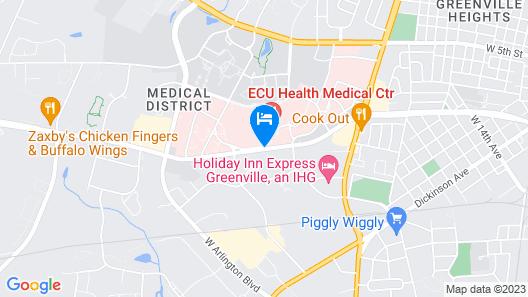 Courtyard Marriott Greenville Map