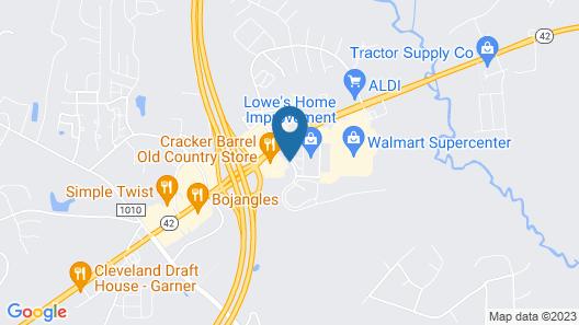 Super 8 by Wyndham Garner/Clayton/Raleigh Map