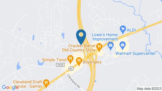Hampton Inn Raleigh/Clayton I-40 Map
