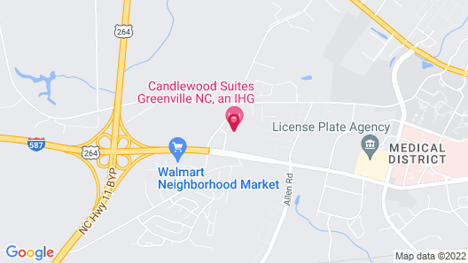 Candlewood Suites Greenville NC, an IHG Hotel Map