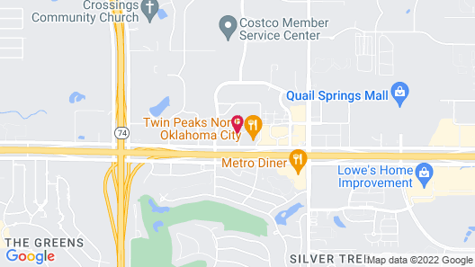 Four Points by Sheraton Oklahoma City Quail Springs Map