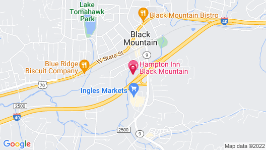 Hampton Inn Black Mountain Map