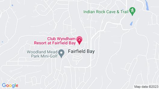 Club Wyndham Resort at Fairfield Bay Map