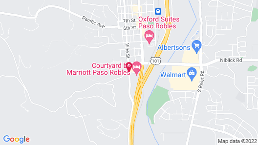 Courtyard Marriott Paso Robles Map
