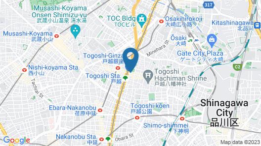 APA Hotel Shinagawa Togoshiekimae Map