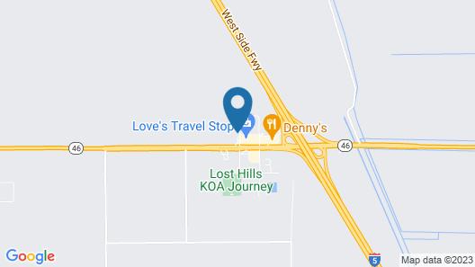 Motel 6 Lost Hills, CA Map