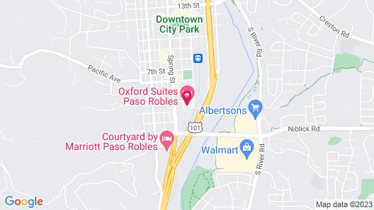 Oxford Suites Paso Robles Map