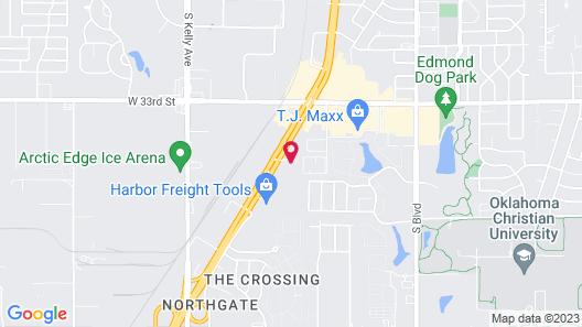 Sleep Inn & Suites Edmond near University Map