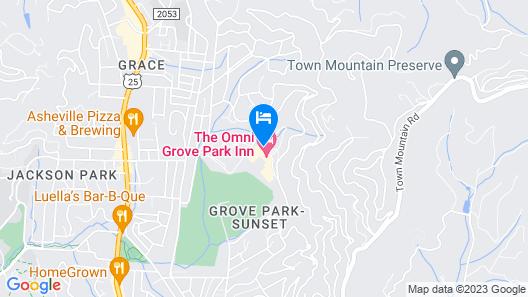 The Omni Grove Park Inn Map