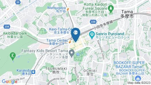 Keio Plaza Hotel Tama Map