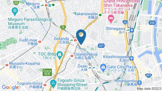 Mitsui Garden Hotel Gotanda Map