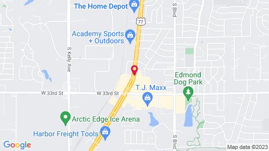 Stratford House Inns - Edmond Map