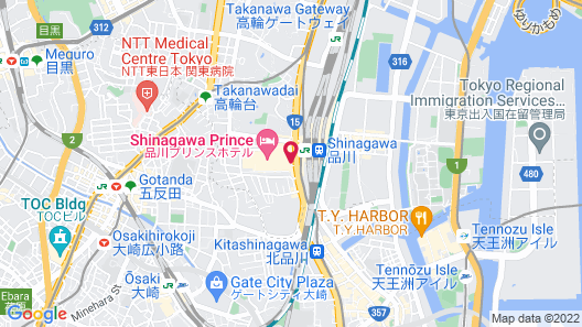 Shinagawa Prince Hotel East Tower Map