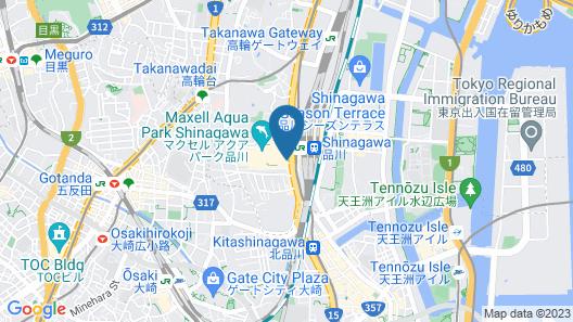 Shinagawa Prince Hotel East Tower Map