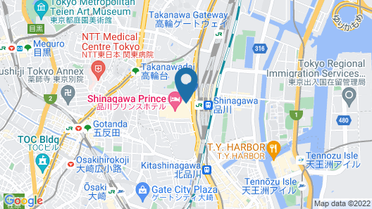 Shinagawa Prince Hotel N Tower Map