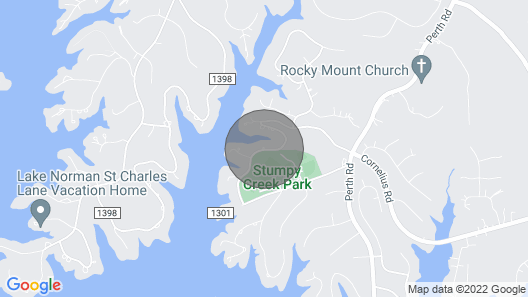 Lake Norman Luxury Vacation Rental: Home Theater Pool Private Dock Map