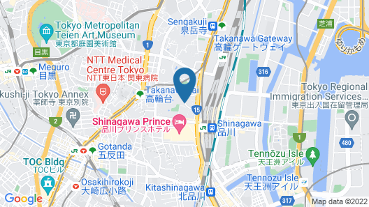 The Prince Sakura Tower Tokyo, Autograph Collection Map