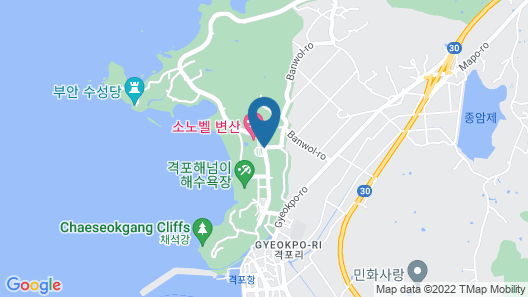Sono Belle Byeonsan (formerly Daemyung Resort Byeonsan) Map