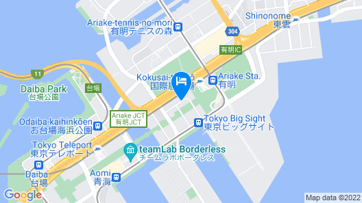Sotetsu Grand Fresa Tokyo-Bay Ariake Map