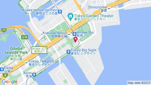 Tokyo Bay Ariake Washington Hotel Map