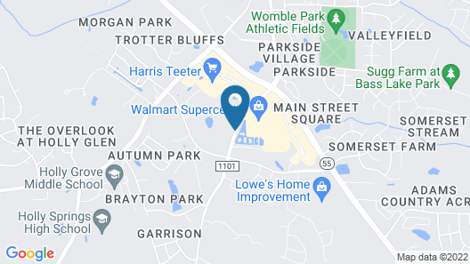 Hampton Inn and Suites Holly Springs Map