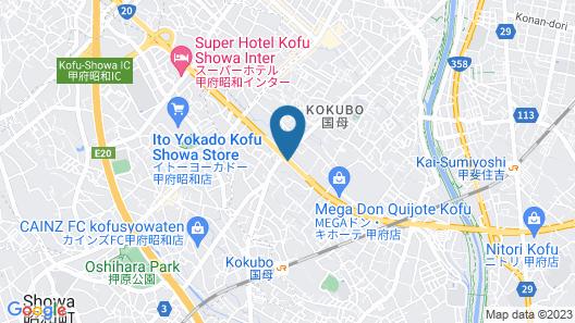 Hotel 1-2-3 Kofu-Shingen Onsen Map