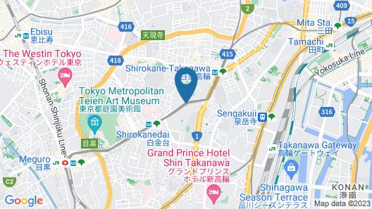 Sheraton Miyako Hotel Tokyo Map