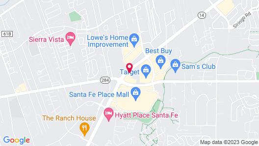 DoubleTree by Hilton Hotel Santa Fe Map