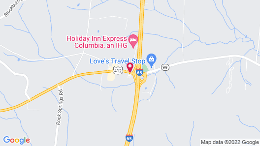 Hampton Inn Columbia Map