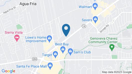 GreenTree Inn Santa Fe Map
