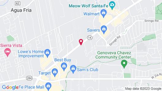Motel 6 Santa Fe, NM - Central Map