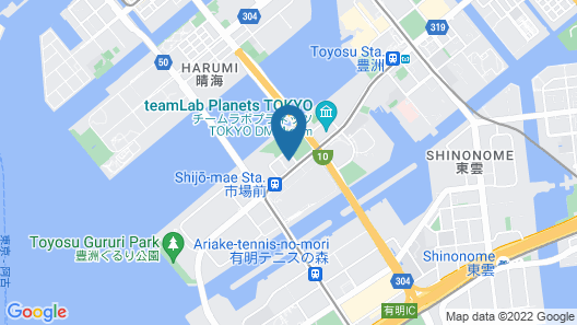 Hotel JAL City Tokyo Toyosu Map