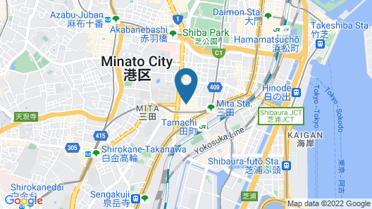 Tamachi station 2 minutes walk Map