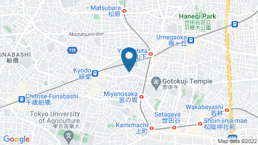 The South Hotel Tokyo Map