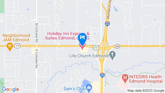 Holiday Inn Express Hotel & Suites Edmond Map