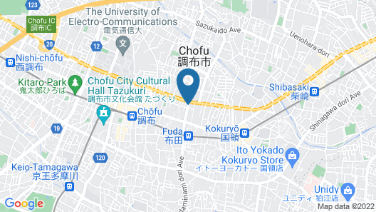 Toyoko Inn Chofu Keio-sen Fuda-eki Map
