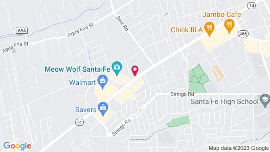 Motel 6 Santa Fe Map