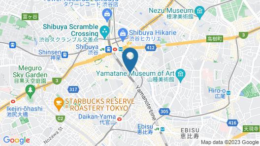 Tokyu Stay Shibuya Shin-minamiguchi Map