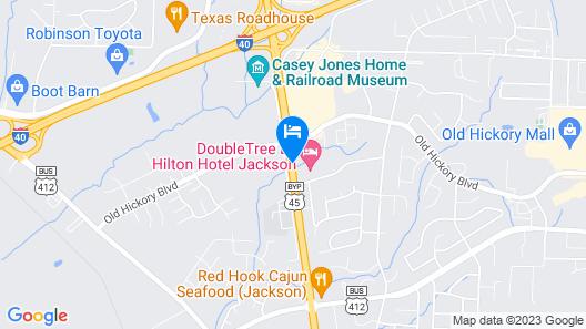DoubleTree by Hilton Hotel Jackson Map