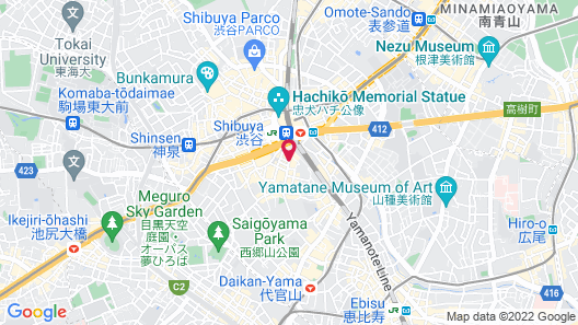 Shibuya Granbell hotel Map