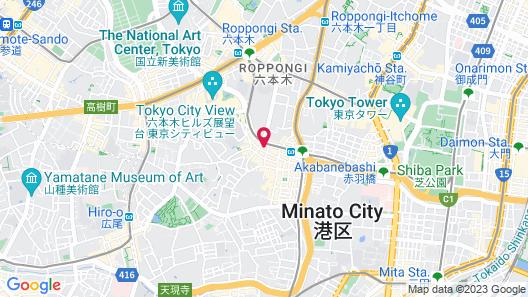 The Lively Azabujuban Tokyo Map