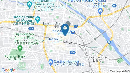 Keio Plaza Hotel Hachioji Map